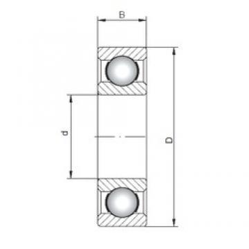 120 mm x 260 mm x 55 mm  ISO 6324 deep groove ball bearings