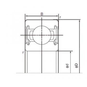 10 mm x 35 mm x 11 mm  NACHI 6300-2NSE9 deep groove ball bearings
