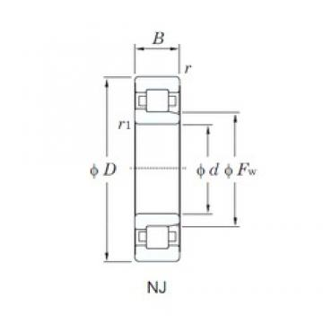 120 mm x 260 mm x 55 mm  KOYO NJ324R cylindrical roller bearings