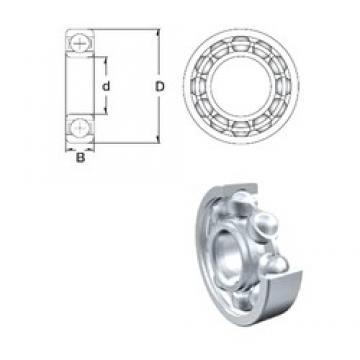 10 mm x 35 mm x 11 mm  ZEN S6300 deep groove ball bearings