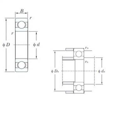 10 mm x 35 mm x 11 mm  KOYO 6300 deep groove ball bearings