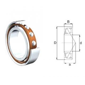 10 mm x 35 mm x 11 mm  ZEN 7300B-2RS angular contact ball bearings