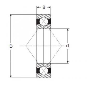 120 mm x 260 mm x 55 mm  SIGMA QJ 324 N2 angular contact ball bearings