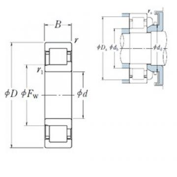 130 mm x 200 mm x 33 mm  NSK NJ1026 cylindrical roller bearings