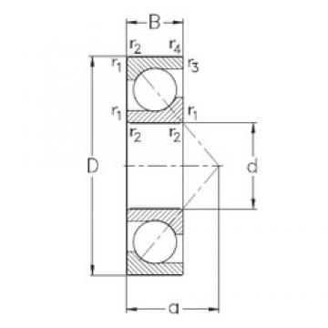 120 mm x 260 mm x 55 mm  NKE 7324-BCB-MP angular contact ball bearings
