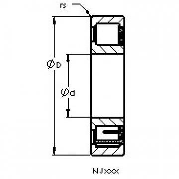 AST NJ1026 M cylindrical roller bearings
