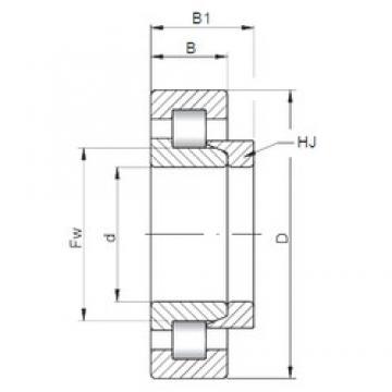 150 mm x 320 mm x 108 mm  Loyal NH2330 E cylindrical roller bearings