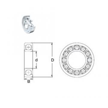 10 mm x 35 mm x 11 mm  ZEN S6300-2Z deep groove ball bearings