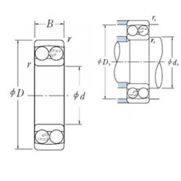10 mm x 35 mm x 11 mm  NSK 1300 self aligning ball bearings