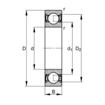 10 mm x 35 mm x 11 mm  FAG 6300-2RSR deep groove ball bearings