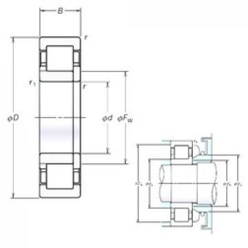 150 mm x 320 mm x 108 mm  NSK NUP2330EM cylindrical roller bearings