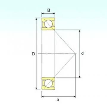 120 mm x 260 mm x 55 mm  ISB 7324 B angular contact ball bearings