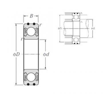 10 mm x 35 mm x 11 mm  NTN AC-6300LLB deep groove ball bearings