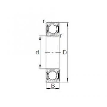 10 mm x 35 mm x 11 mm  KBC 6300UU deep groove ball bearings