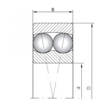 10 mm x 35 mm x 11 mm  ISO 1300 self aligning ball bearings
