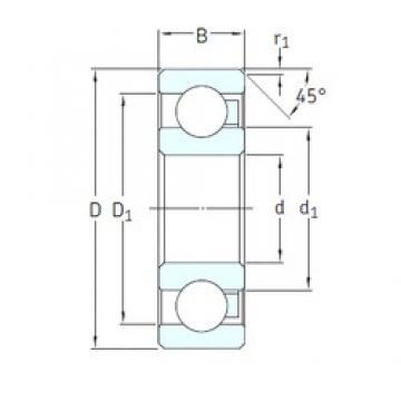 10 mm x 35 mm x 11 mm  SKF 6300/HR11QN deep groove ball bearings