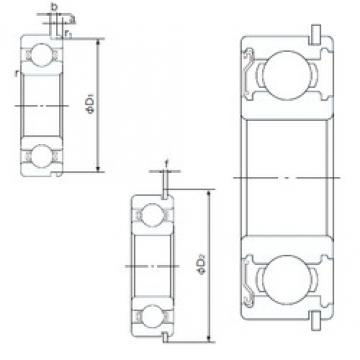 10 mm x 35 mm x 11 mm  NACHI 6300ZENR deep groove ball bearings