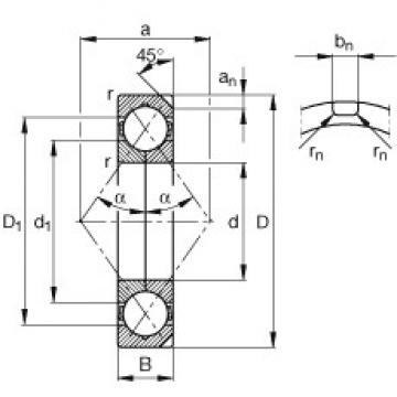 120 mm x 260 mm x 55 mm  FAG QJ324-N2-MPA angular contact ball bearings