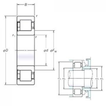 150 mm x 320 mm x 108 mm  NSK NJ2330EM cylindrical roller bearings