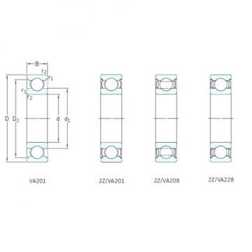 10 mm x 35 mm x 11 mm  SKF 6300-2Z/VA201 deep groove ball bearings