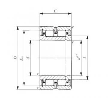 120 mm x 165 mm x 45 mm  IKO NAU 4924 cylindrical roller bearings