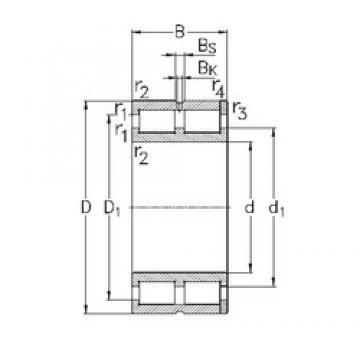 120 mm x 165 mm x 45 mm  NKE NNC4924-V cylindrical roller bearings