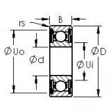 AST 6303ZZ deep groove ball bearings